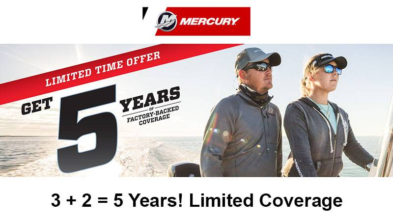 Mercury Marine 5 Year Limited Coverage promo